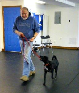 Puppy class Mar 2014 Paul & Zoey